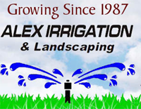 Alex Irrigation and Landscaping logo