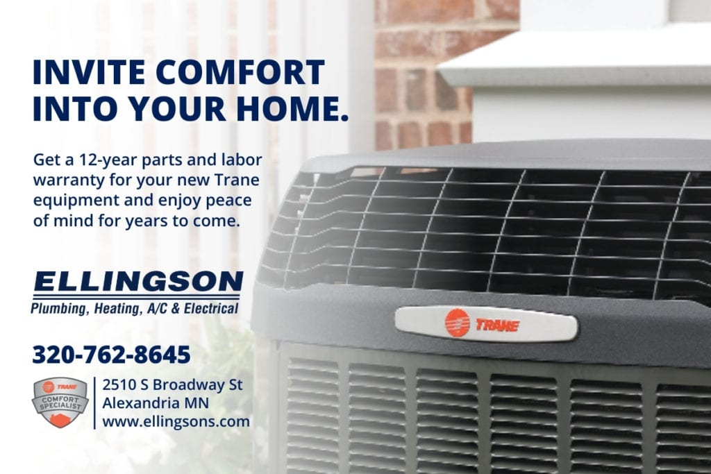 trane air conditioner installed by Ellingson
